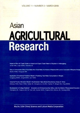 Asian Agricultural Research2019年第03期