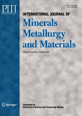 International Journal of Minerals Metallurgy and Materials