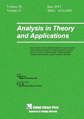 《Analysis in Theory and Applications》2014年02期
