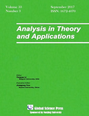 Analysis in Theory and Applications2017年第03期