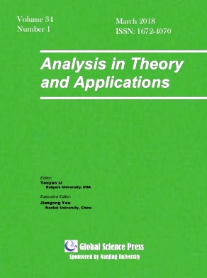 Analysis in Theory and Applications2018年第01期