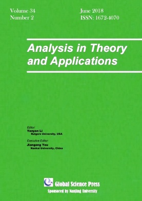 Analysis in Theory and Applications2018年第02期