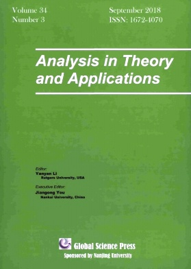 Analysis in Theory and Applications2018年第03期