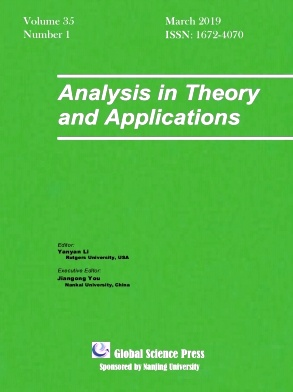 Analysis in Theory and Applications2019年第01期