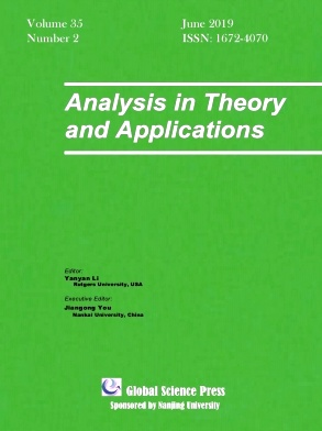 Analysis in Theory and Applications2019年第02期