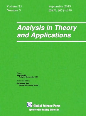 Analysis in Theory and Applications2019年第03期