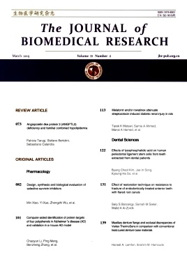 The Journal of Biomedical Research2019年第02期
