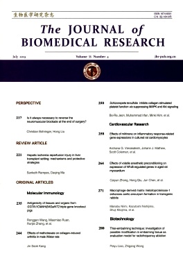 The Journal of Biomedical Research2019年第04期