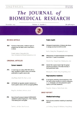 The Journal of Biomedical Research2019年第06期