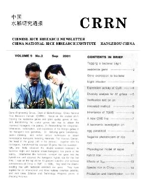 Chinese Rice Research Newsletter2001年第03期