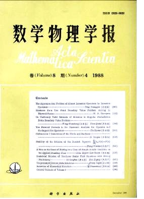 《Acta Mathematica Scientia》1988年04期