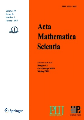 Acta Mathematica Scientia(English Series)