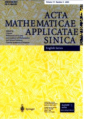 《Acta Mathematicae Applicatae Sinica(English Series)》2003年03期