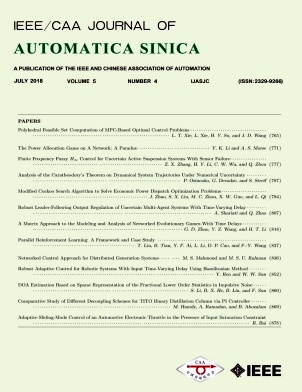 IEEE/CAA Journal of Automatica Sinica2018年第04期