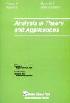 Analysis in Theory and Applications2017年01期