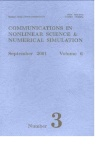 Communications in Nonlinear Science and Numerical Simulation杂志01年03期