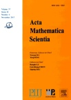 Acta Mathematica Scientia(English Series)2017年06期