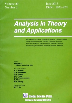 《Analysis in Theory and Applications》2013年02期