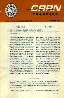 《Chinese Rice Research Newsletter》1997年04期