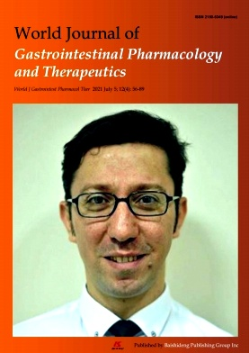 World Journal of Gastrointestinal Pharmacology and Therapeutics杂志